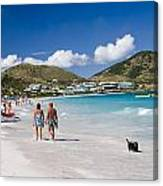 Orient Beach In St Martin Fwi Canvas Print
