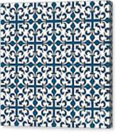 Orient Blue And White Interlude Canvas Print