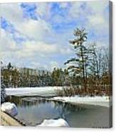 Oriental Powder Mills Lake Canvas Print
