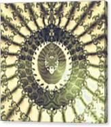 Oriental Sun Abstract Art Canvas Print