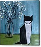 Origami Cat Canvas Print