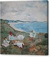Original Copy By Karen Gilmore Of William Merrit Chase's Idle Hours Canvas Print