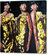 Original Divas The Supremes Canvas Print