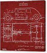 Original Harleigh Holmes Automobile Patent 1932 Canvas Print