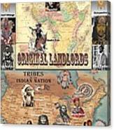 Original Landlords Poster African And Native American Canvas Print