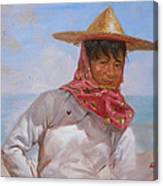 Original Oil Painting - Chinese Woman#16-2-5-26 Canvas Print