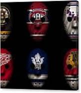 Original Six Jersey Mask Canvas Print