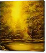 Green Forest Glow-original Sold- Buy Giclee Print Nr 35 Of Limited Edition Of 40 Prints  Canvas Print