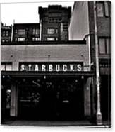 Original Starbucks Black And White Canvas Print