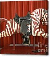 Original Zebra Carousel Ride Canvas Print