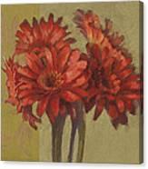 Ornamental Gerbers Canvas Print