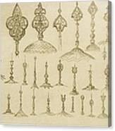 Ornamental Knobs Shaped As Domes Canvas Print