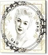 Ornamental Marilyn Canvas Print