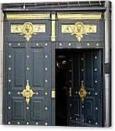 Ornate Door On Champs Elysees In Paris France Canvas Print