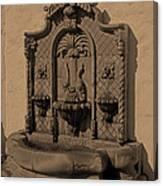 Ornate Wall Fountain Canvas Print