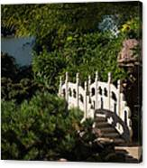 Ornate White Stone Bridge  Canvas Print