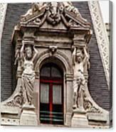 Ornate Window Of City Hall Philadelphia Canvas Print