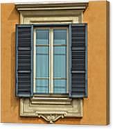 Ornate Window Of Rome Canvas Print