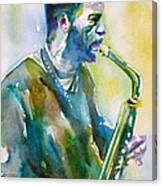 Ornette Coleman - Watercolor Portrait Canvas Print