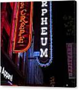 Orpheum And Cafe Crepe Canvas Print