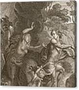 Orpheus, Leading Eurydice Out Of Hell Canvas Print