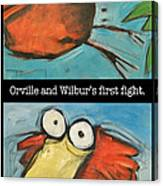 Orville And Wilburs First Flight Canvas Print