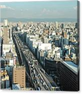 Osaka Cityscape Canvas Print