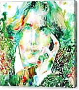 Oscar Wilde Watercolor Portrait.2 Canvas Print