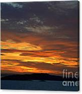 Oslo Fjord At Sunset Canvas Print
