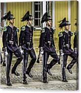 Oslo Royal Palace Guards Canvas Print