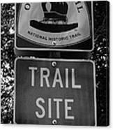 Oregon Trail Sign A Canvas Print