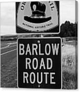 Barlow Road Cutoff Sign Canvas Print