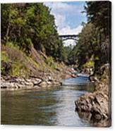 Ottauquechee River Flowing Through The Quechee Gorge Canvas Print
