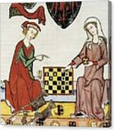 Otto Iv Of Brandenburg Playing Chess Canvas Print