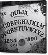Ouija Board Queen Mary Ocean Liner Bw Canvas Print