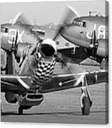 Our American Friends - Mustang And C-47 Troop Carriers Canvas Print