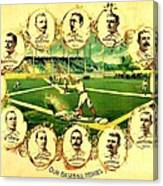 Our Baseball Heroes Canvas Print