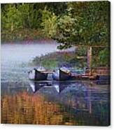 Our Canoes Await Canvas Print