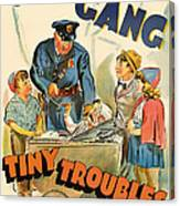 Our Gang Vintage Movie Poster 1930s Canvas Print