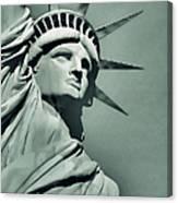 Our Lady Liberty - Verdigris Tone Canvas Print