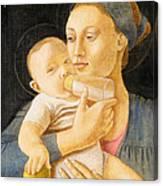 Our Lady Nursing The Child Canvas Print