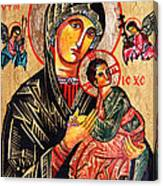 Our Lady Of Perpetual Help Icon Canvas Print
