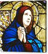 Our Lady Of Sorrows In Stained Glass Canvas Print
