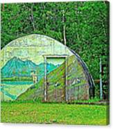 Our Lady Of The Way Quonset Hut Chapel In Haines Junction-yt Canvas Print