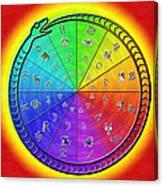 Ouroboros Alchemical Zodiac Canvas Print