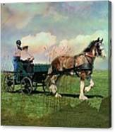 Out For A Trot Canvas Print