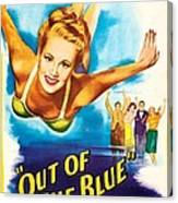 Out Of The Blue, Us Poster, From Left Canvas Print