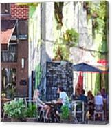 Outdoor Cafe Philadelphia Pa Canvas Print