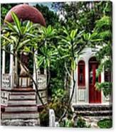 Outdoor Chapel In Gustavia  Canvas Print