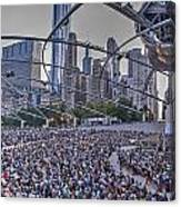 Chicago Outdoor Concert Canvas Print